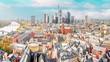 Panoramic daytime time lapse of Frankfurt am Main, Skyline with financial district. Germany.