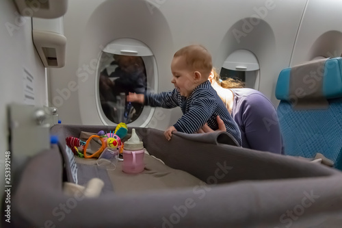 Interest to special baby bassinet during the flight Canvas Print
