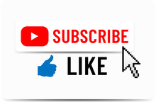 Subscribe Button. Like Button. Hand