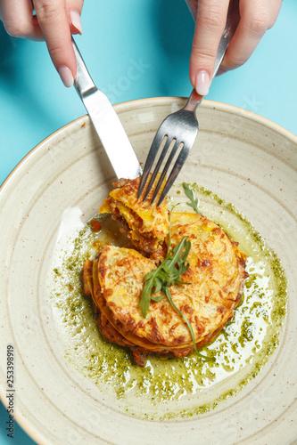 Fotografie, Obraz  Traditional Italian lasagna
