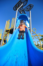 Low Angle View Of Boy Playing ...