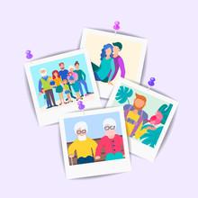Happy Family Concept Photo Set.