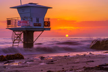 Beautiful Sunset In San Diego,...