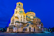 Leinwanddruck Bild - The Aleksander Nevsky Orthodox Cathedral of Sofia, Bulgaria