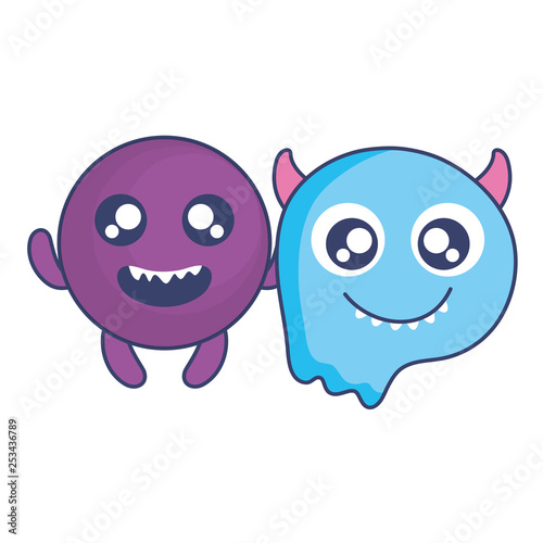 crazy monsters couple comic characters