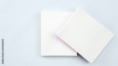 Valokuvatapetti business white paper card on white background