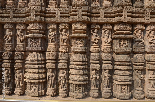 Ancient stone carvings at sun temple buy this stock photo and