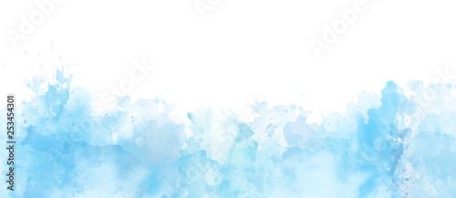 mata magnetyczna Watercolor border isolated on white, artistic background