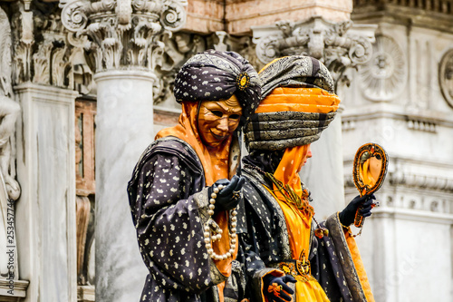 Tuinposter Imagination Photo View in Venice City During the Carnival Holiday