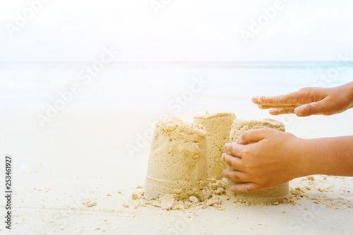 Poster Artist KB Sandcastle summer on beach
