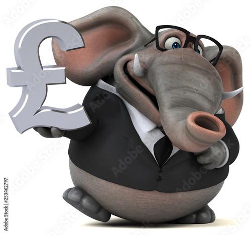 Słoń zabawa - ilustracja 3D