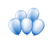 Bunch of blue balloons.