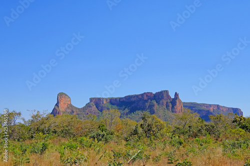 Fotografija  Beautiful red mountain landscape at Chapada Dos Guimaraes, the geographic center
