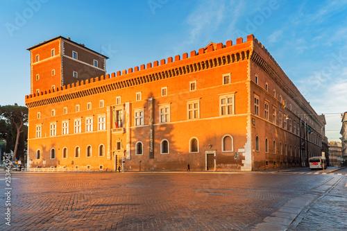 Venezia Palace and Venice Square in Rome Canvas Print
