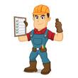 Handyman holding task list