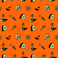 HALLOWEEN ICONS SEAMLESS PATTE...