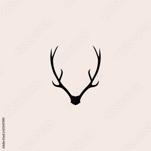 Photo deer antlers logo vector illustration icon