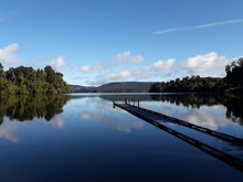Lake Mapourika In New Zealand