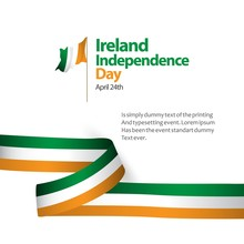 Ireland Independence Day Vecto...
