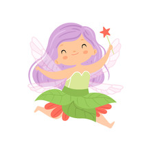 Sweet Little Winged Fairy Flyi...