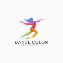 Abstract Dance Color Illustration Vector Design Template
