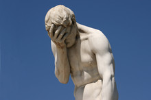 Facepalm Statue In Paris - Despair, Headache, Depression