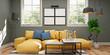 Leinwanddruck Bild - modern interior of a living room
