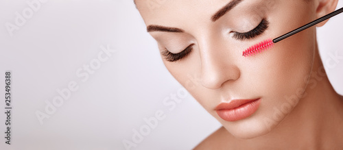 Beautiful Woman with Extreme Long False Eyelashes Canvas-taulu