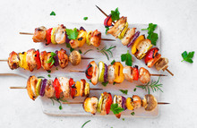 Chicken And Vegetable Skewers
