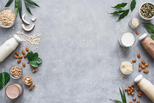 Fotografia  Various plant based milk