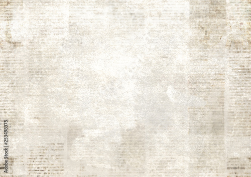 Wall Murals Retro Newspaper with old grunge vintage unreadable paper texture background