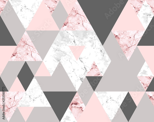 seamless-geometric-abstract-pattern-with-pink-and-gray-marble-triangles