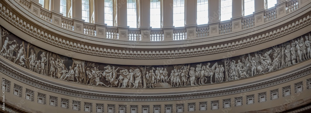 Fototapety, obrazy: Washington DC, District of Columbian [Library of congress, main reading room and Great Hall interior]