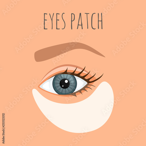 Caring for the skin around the eyes Fototapet