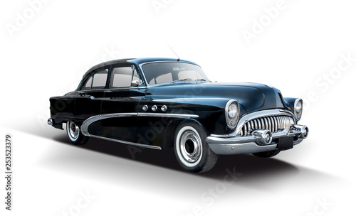 Cadres-photo bureau Vintage voitures Classic American car isolated on white