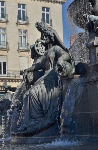 Fotografía  Fontaine de la Place Royale, Nantes, France
