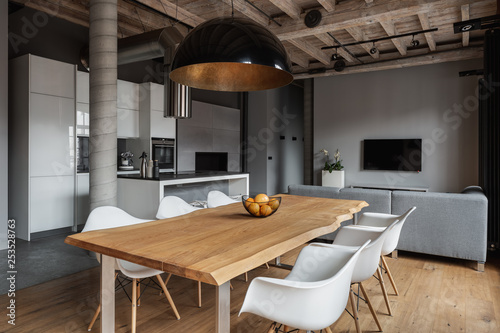 Obraz Industrial home interior - fototapety do salonu
