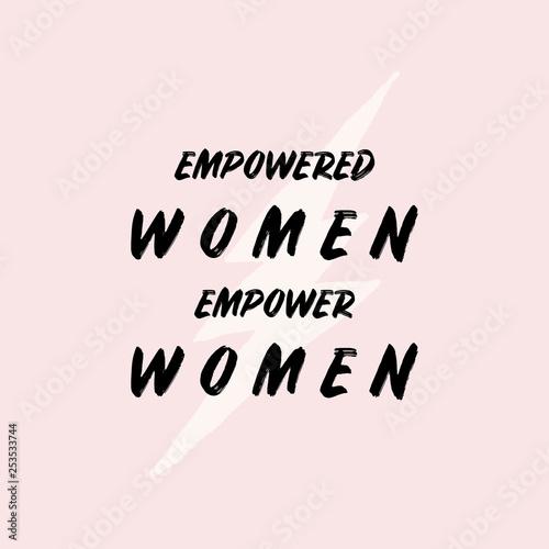 Photo  Empowered Women Typographic Design