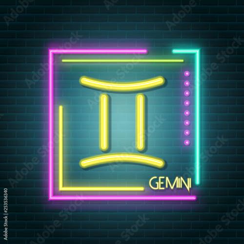 Poster Retro sign aeris neon sign