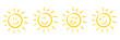 Sonne, Set
