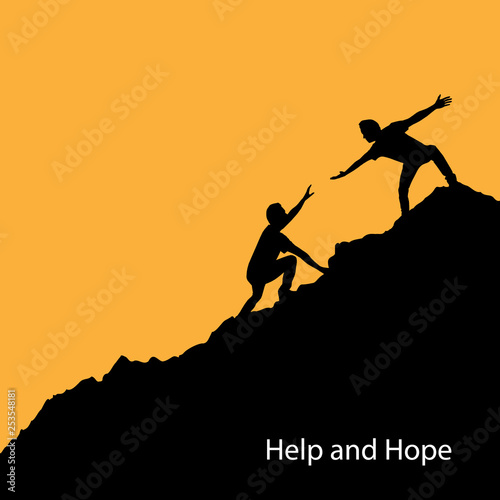 Canvastavla Help and hope concept