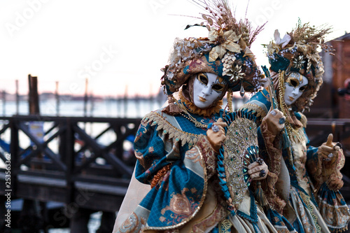 Venice, Italy, Carnival of Venice, beautiful mask at Piazza San Marco