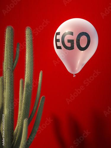Obraz na plátně ego balloon and catus
