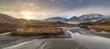 Panorama eines Sonnenaufganges in den Stubaier Alpen