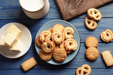 Plate With Danish Butter Cooki...