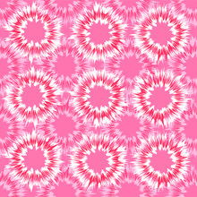 All Over Seamless Tie Dye Pattern Coral Pink Color Vector Repeating