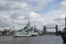 HMS Belfast And Tower Bridge, ...