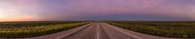 Panorama Of A Straight Road Th...