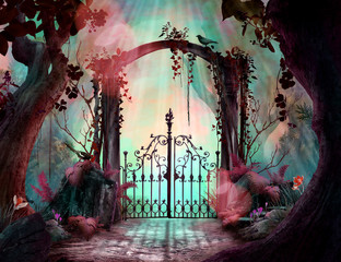 Archway in an enchanted fai...