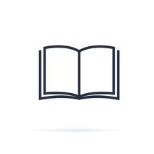 Book Icon Vector. Open Book Sy...